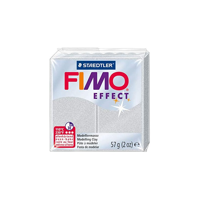 Полимерная глина Fimo Effect, №81, серебряный металлик, 57 г