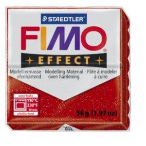Полимерная глина Fimo Effect, №202, красный с блестками, 57 г