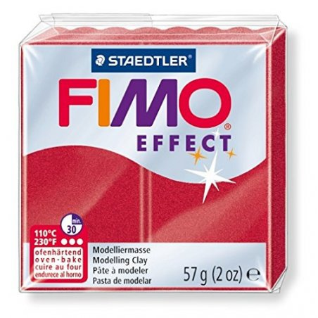 Полимерная глина Fimo Effect, №28, малиновый металлик, 57 г