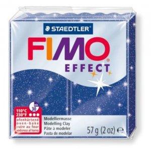Полимерная глина Fimo Effect, №302, синий с блестками, 57 г