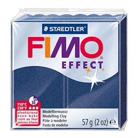 Полимерная глина Fimo Effect, №38, синий металлик, 57 г