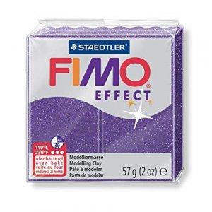 Полимерная глина Fimo Effect, №602, фиолетовый с блестками, 57 г