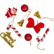 """Набор новогодних декоративных подвесных украшений """"Merry Christmas"""", 9 штук"""