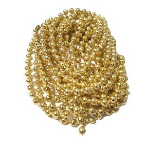Новогодняя Гирлянда/бусы d 3 мм, цвет светлое золото, 3 м