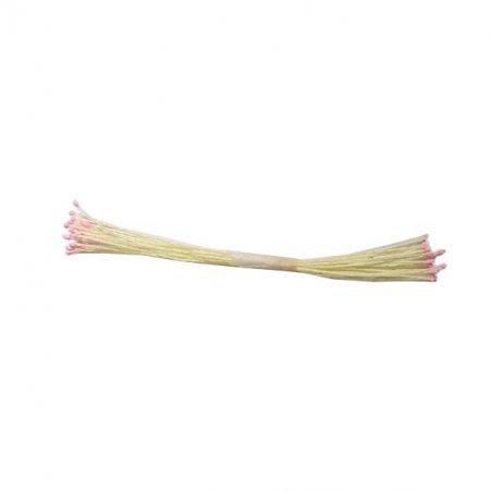 Цветочные тычинки светло-желтые с розовыми концами, №22