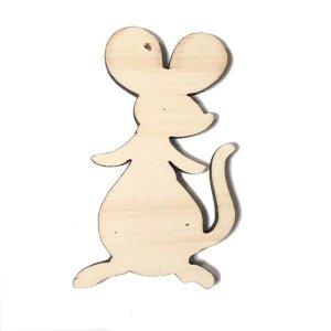"""Деревянная заготовка-подвеска """"Мышка"""", 11*6 см, 1 штука"""