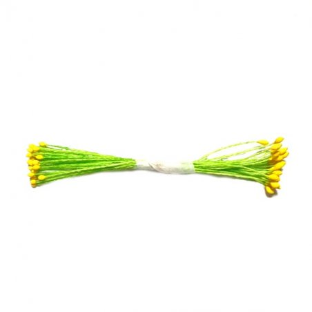 Цветочные тычинки зеленые с желтыми концами, №27