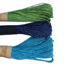 Шнур хлопчатобумажный, цвет голубой, 30 м