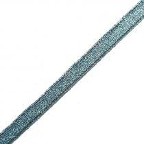 Лента-парча, цвет синий 0,6 см, 1м