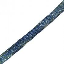 Лента-парча, цвет темно-зеленый 0,6 см, 1м