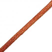 Лента-парча, цвет красный 0,6 см, 1м