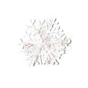 Снежинка-подвеска пластиковая 10 см, цвет белый, 3 штуки