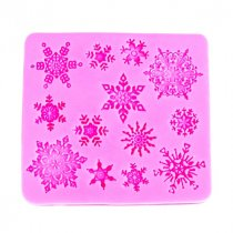 Новогодняя силиконовая форма Снежинки, 8,5*9 см