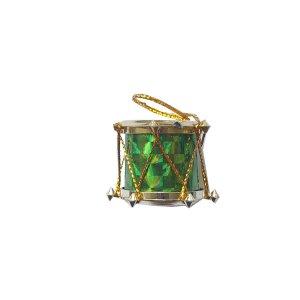 """Декоративный """"Барабан"""", цвет зеленый, 2х2,5 см, 1 штука"""