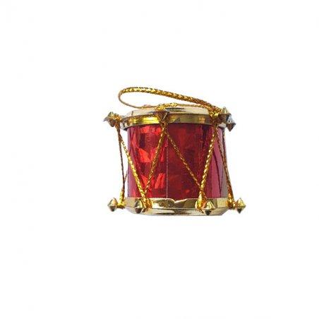 """Декоративный """"Барабан"""", цвет красный, 2х2,5 см, 1 штука"""