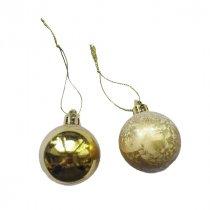 """Новогодняя игрушка """"Мини-шарик"""" в ассортименте 1 шт, цвет золото, d 4 см"""