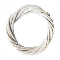 Венок из ротанга, цвет белый 25 см