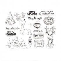 """Набор силиконовых штампов """"Merry Christmas"""" №1, 12х16 см"""