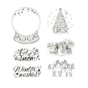 Набор силиконовых штампов Let it snow, 6 штук, 15х17 см