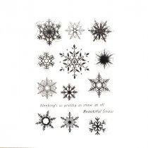 Набор силиконовых штампов Снежинки, 14 штук, 11х16 см