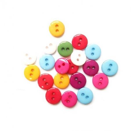 Пуговицы для скрапбукинга 0,6 см Микс №25, 10 штук