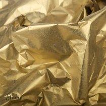 Бумага тишью, цвет- золотой (металлизированная с одной стороны), 50х65 см, 5 листов