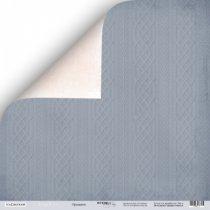 "Лист двусторонней бумаги 30,5x30,5 ""Орнамент"" из коллекции Shabby Winter,  190г/м2, 1 лист"
