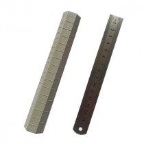 Шестигранная линейка для полимерной глины, 16 см