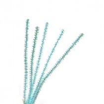 Синельная проволока блестящая, нежно-голубой люрекс, 30 см, 1 штука