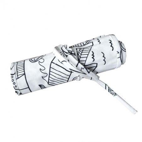 Пенал для карандашей (хлопок), цвет в ассортименте, 37х21 см