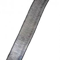 Органза, цвет черный, 25 мм, 1м
