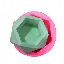 Силиконовая форма Горшочек для суккулентов Кристалл, 8,7*3,5 см