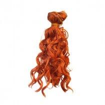 """Искусственные  волосы """"Кудрявые"""" на трессе 15 см, цвет рыжий"""