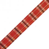 Лента тканевая с люрексом 1,8 см Шотландка №4, 1м