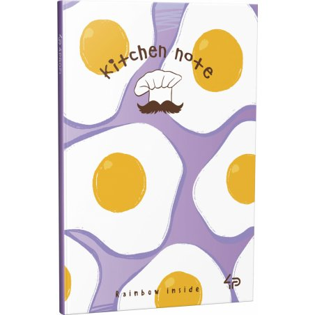 """Блокнот №1272 """"Rainbow kitchen note"""" fried eggs, A6, 96 листов"""