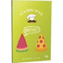"""Блокнот №1241 """"Rainbow kitchen note"""" pizza, A6, 96 страниц"""