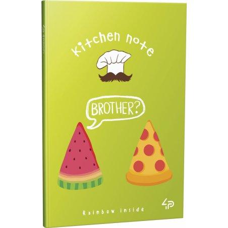 """Блокнот №1241 """"Rainbow kitchen note"""" pizza, A6, 96 листов"""
