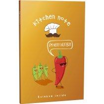 """Блокнот №1258 """"Rainbow kitchen note"""" chilli, A6, 96 листов"""