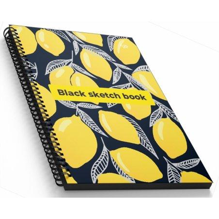 """Блокнот №1418 """"Black sketch book"""" one, A5, 160 листов"""