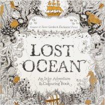 """Раскраска-антистресс """"LOST OCEAN"""", В4,12 листов, 25х25 см"""