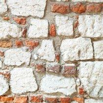 Виниловый безбликовый фотофон Кирпичная кладка №6, 50*50 см