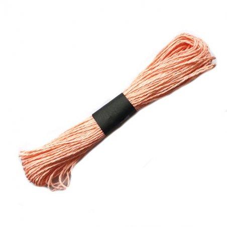 Шнур хлопчатобумажный, цвет персиковый, 30 м