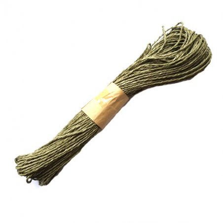 Шнур хлопчатобумажный, цвет оливковый, 30 м