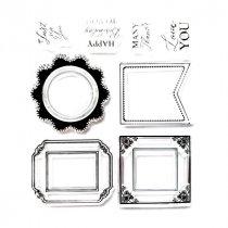 Набор силиконовых штампов Рамочки, 12,5х10,5 см