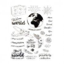 Набор силиконовых штампов The world, 15.5х21,5 см