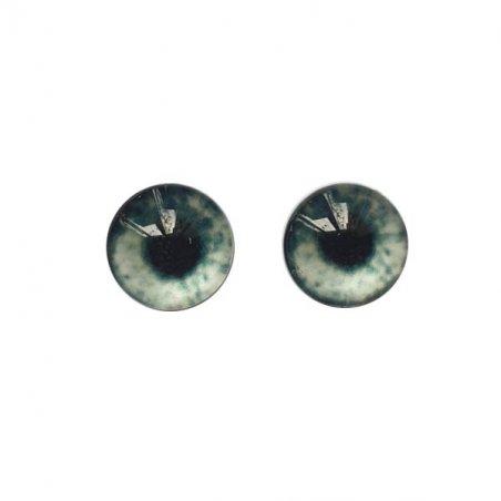 Глаза стеклянные для кукол (игрушек), 8 мм, №77300 (пара)