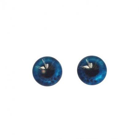 Глаза стеклянные для кукол (игрушек), 8 мм, №77302 (пара)