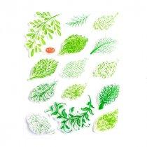 Набор силиконовых штампов Веточки и листья, 14х18 см