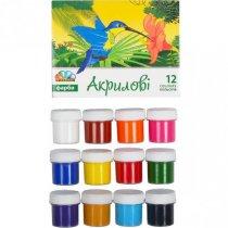 Набор акриловых красок Гамма, 12цветов*20мл.
