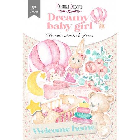 """Набор высечек для скрапбукинга """"Dreamy baby girl"""" FDSCD-04081, 55 штук"""